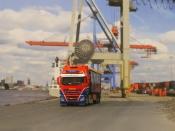 61 Kubikmeter 4achs KEL-BERG Auflieger und ein sehr schicker IVECO nach Hanstholm-Vorbild für die neue Niederlassung
