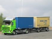 Scania 143 Wechselbrückenhängerzug