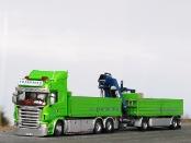Scania Baustoffhängerzug